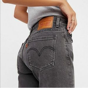 NEW Levi's Orange Tab Gray 505c Cropped Jeans 25